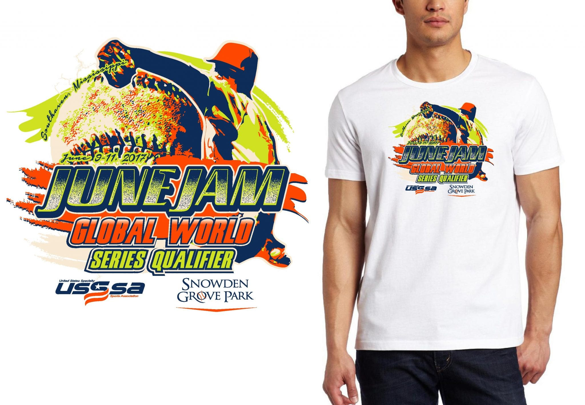 BASEBALL LOGO for Global-World-Series-Qualifier T-SHIRT UrArtStudio