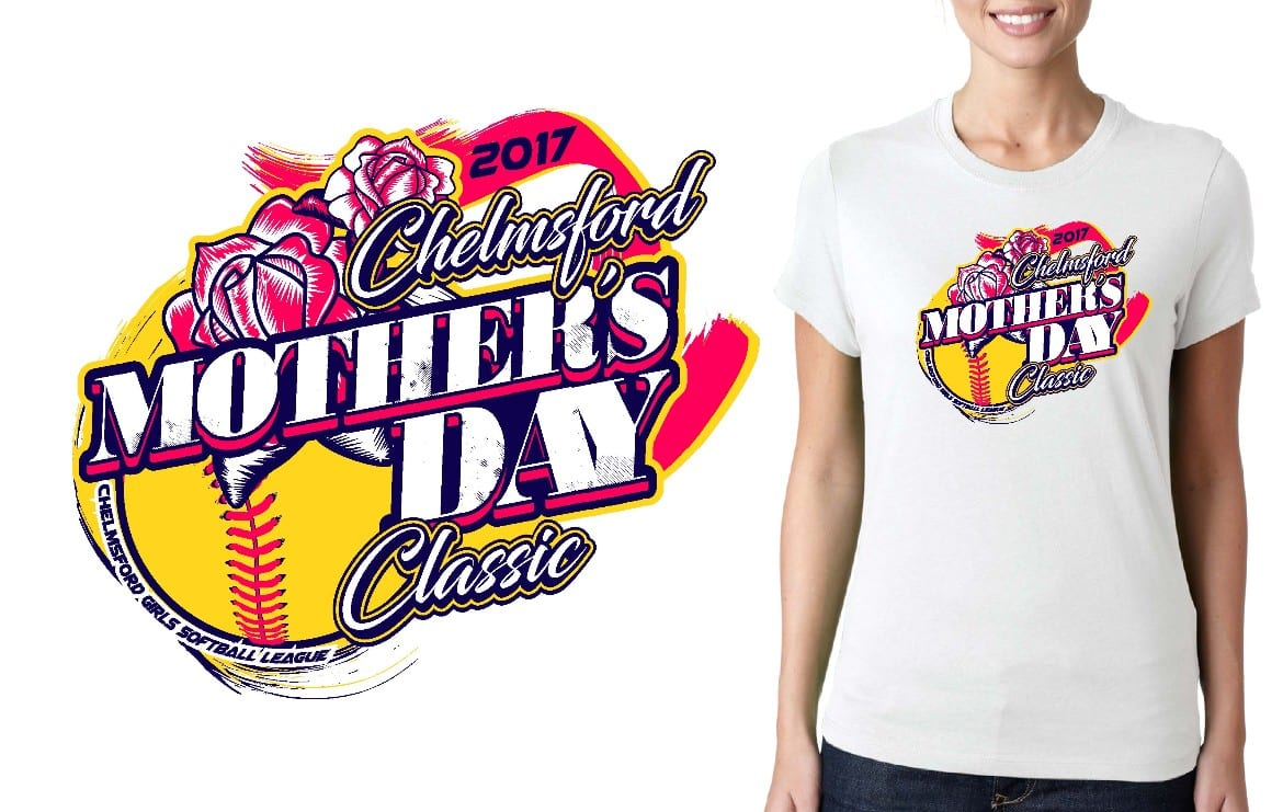 SOFTBALL LOGO for Chelmsford-Mothers-Day-Classic T-SHIRT UrArtStudio