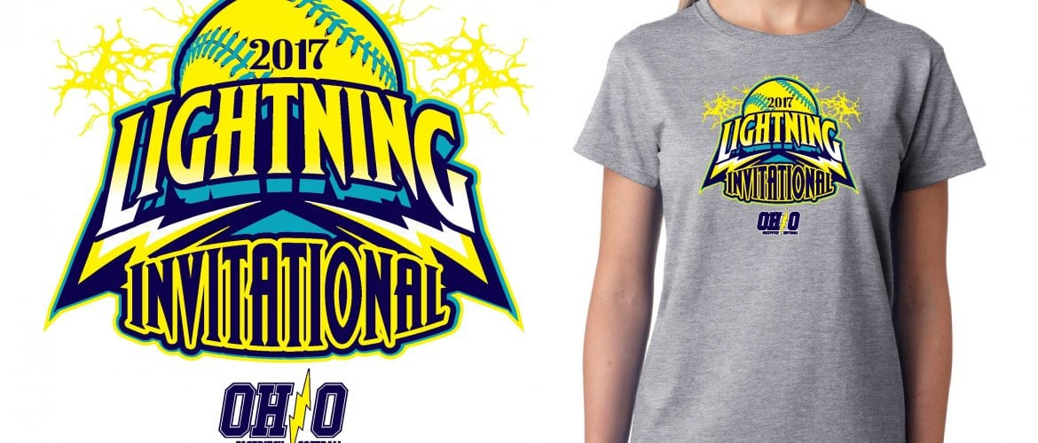 SOFTBALL LOGO for Lightning Invitational T-SHIRT UrArtStudio
