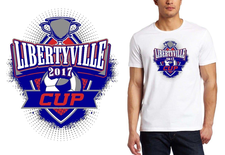 SOCCER LOGO for Libertyville-Cup T-SHIRT UrArtStudio