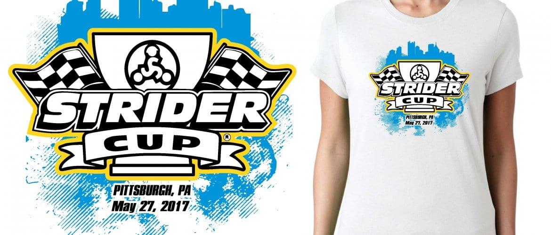 2017 Strider Cup Pittsburg PA logo design for cycling t-shirt UrArtStudio