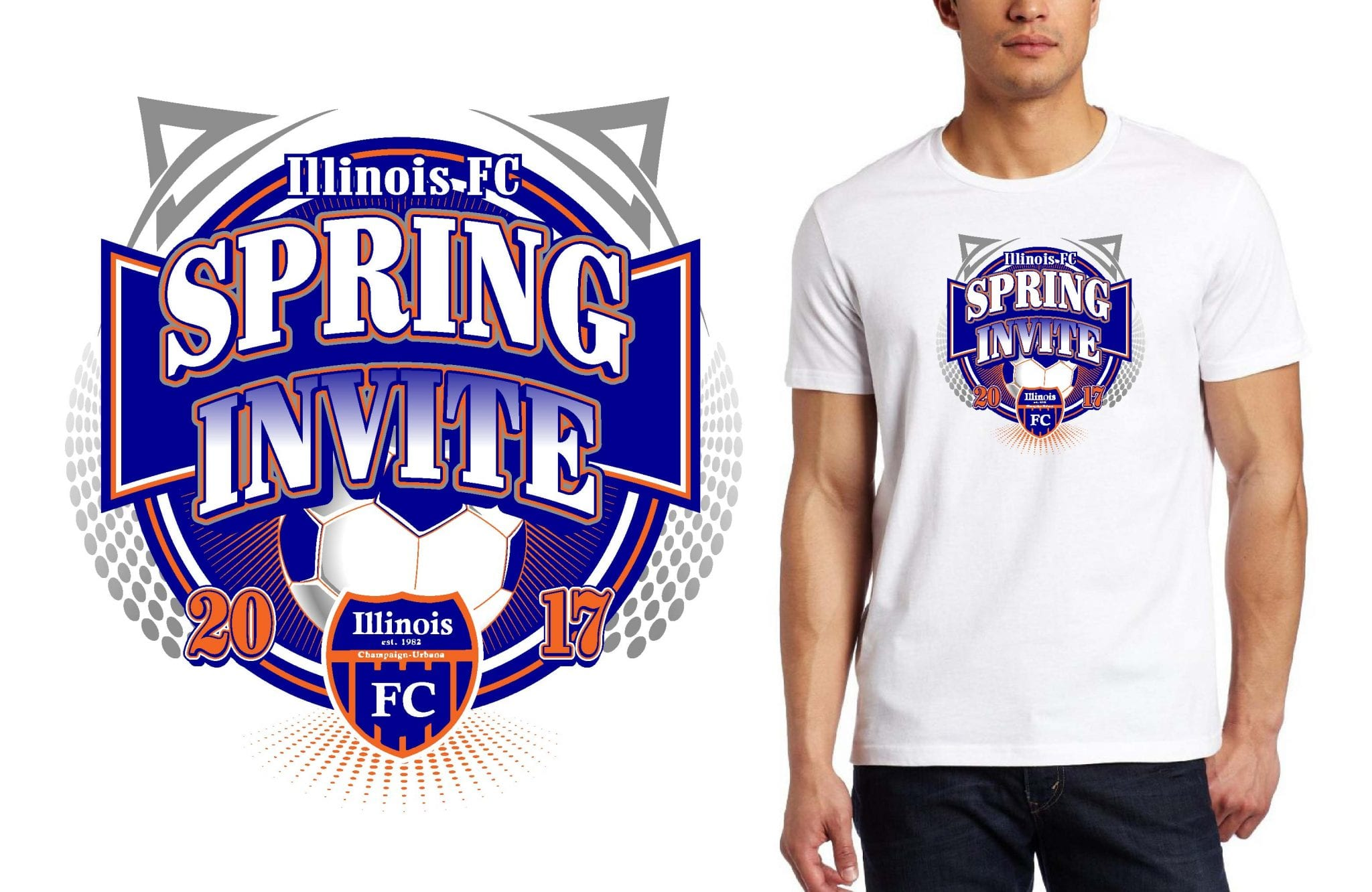 SOCCER LOGO for Illinois-FC-Spring-Invite T-SHIRT UrArtStudio