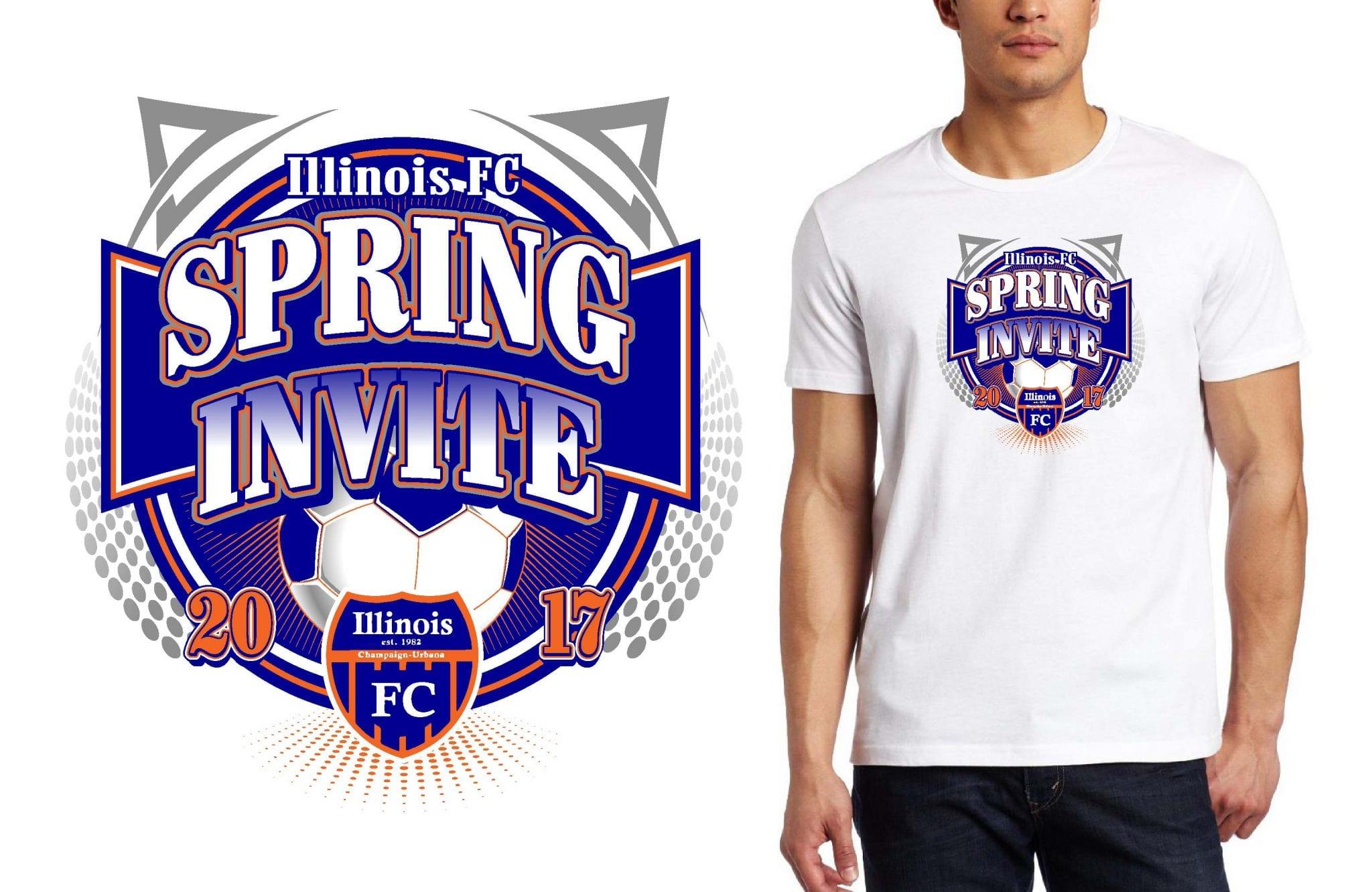SOCCER LOGO for Illinois-FC-Spring-Invite T-SHIRT UrArtStudio