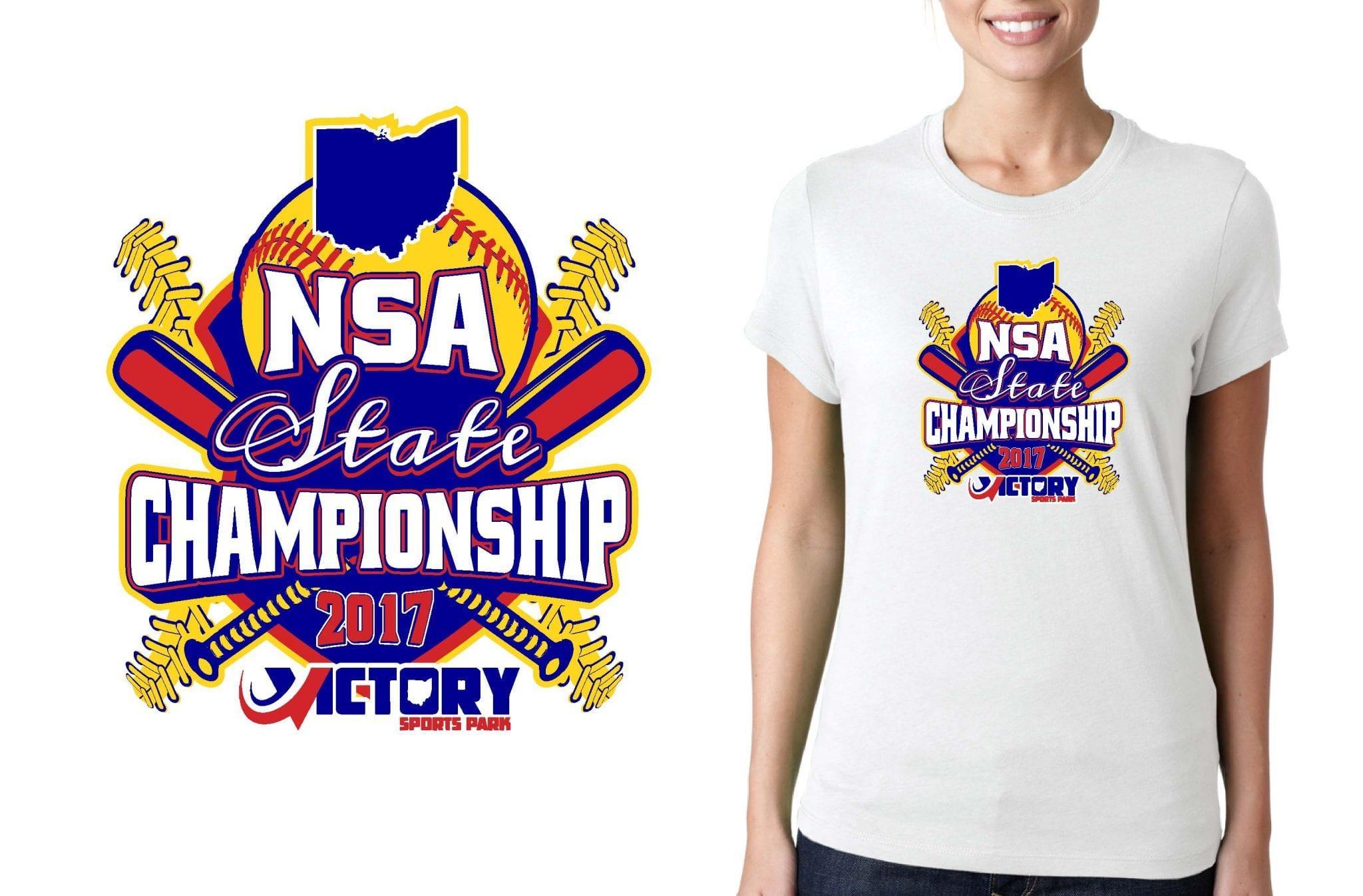 SOFTBALL LOGO for NSA-State-Championship T-SHIRT UrArtStudio