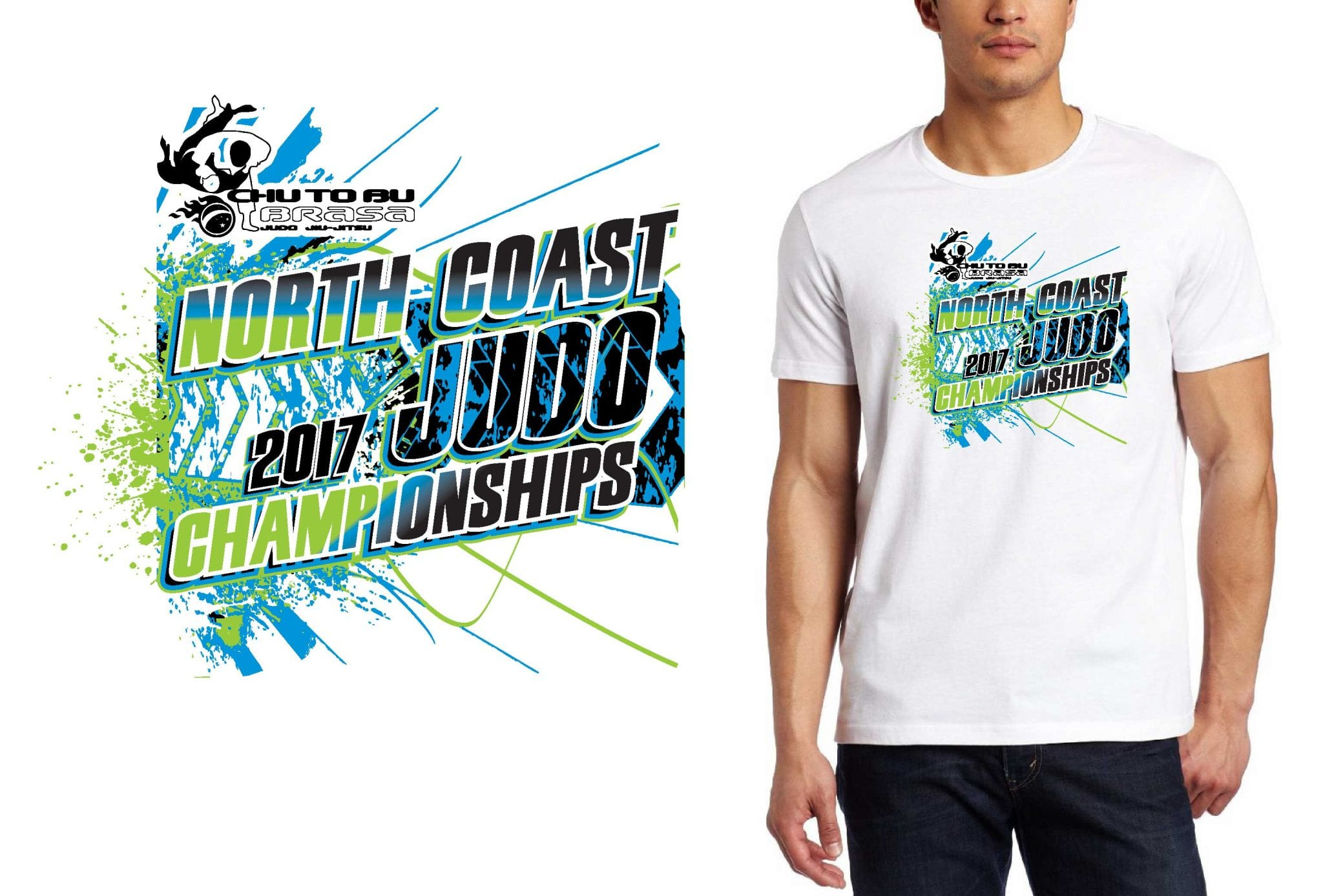 JUDO LOGO for North-Coast-Judo-Championships T-SHIRT UrArtStudio
