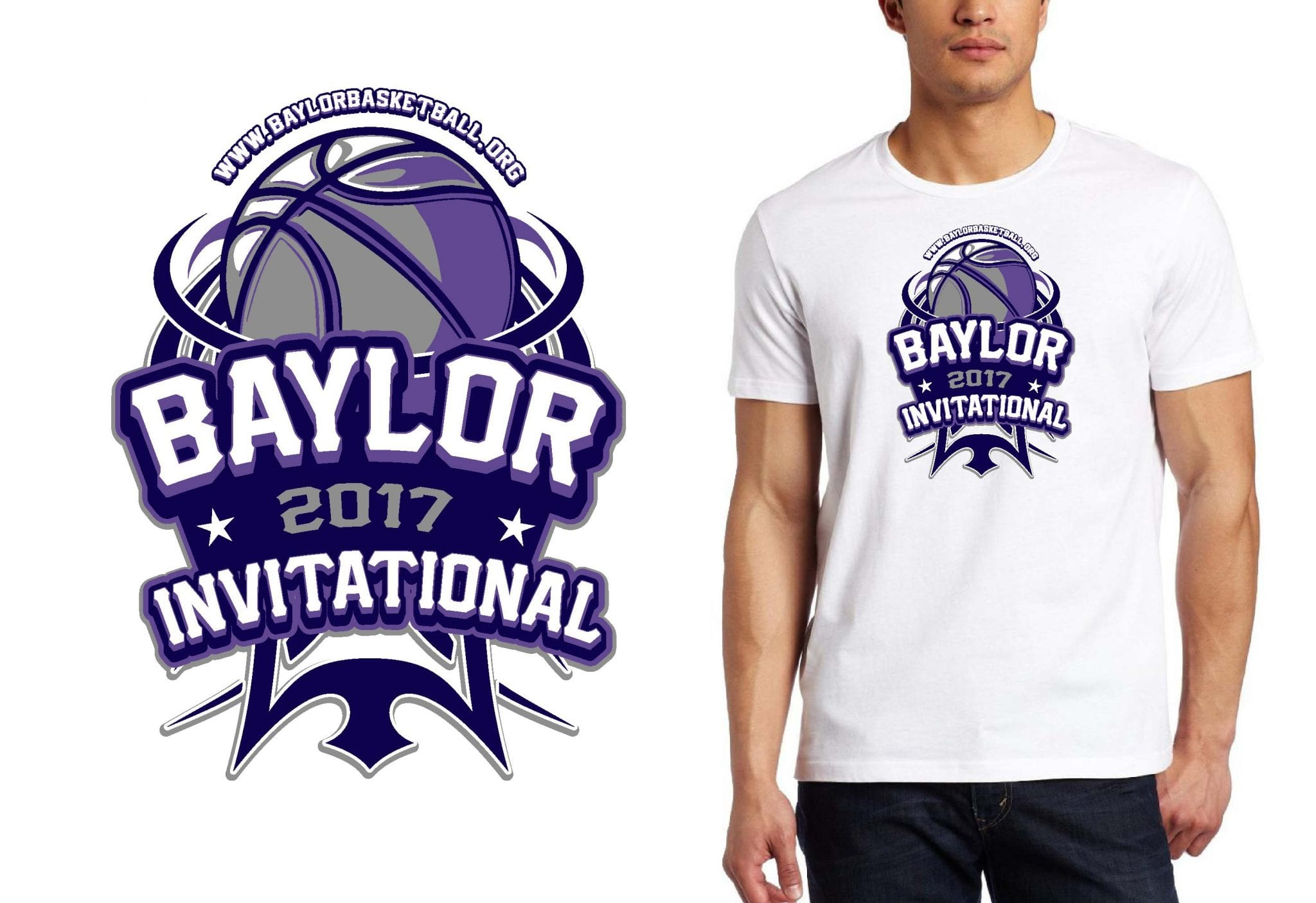 BASKETBALL TSHIRT LOGO DESIGN Baylor-Youth-Invitational BY UrArtStudio