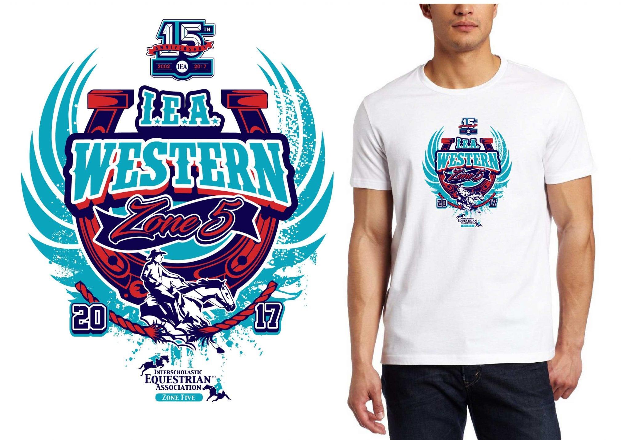 2017 Zone 5 Western Zone Finalsvector logo design for equstrian t-shirt UrArtStudio