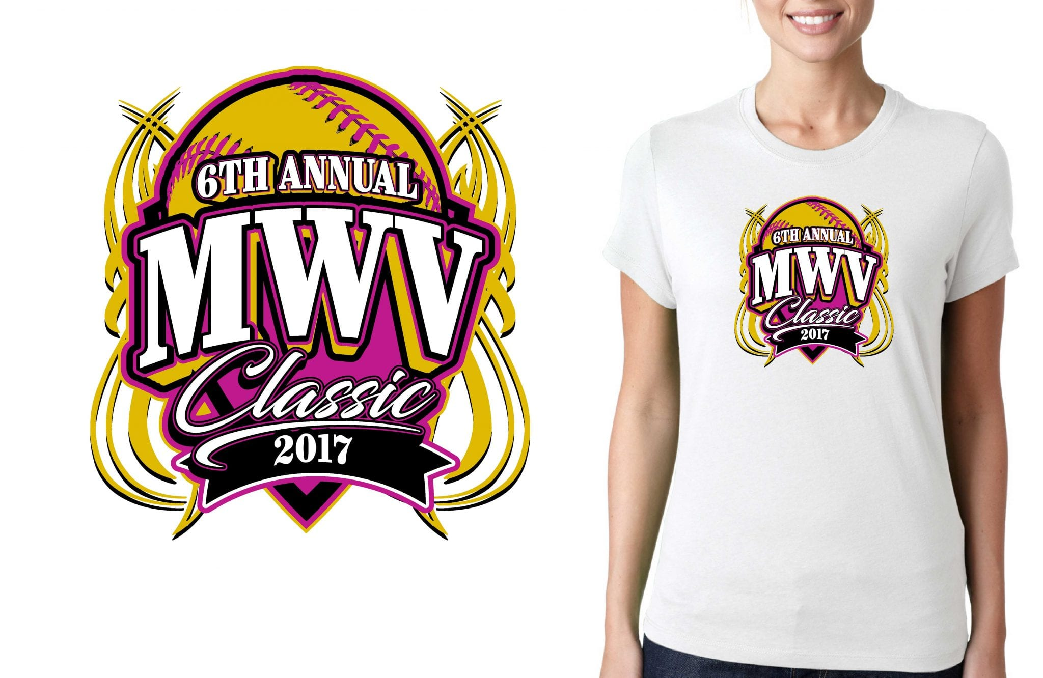 SOFTBALL LOGO for 6th-Annual-MWV-Classic T-SHIRT UrArtStudio
