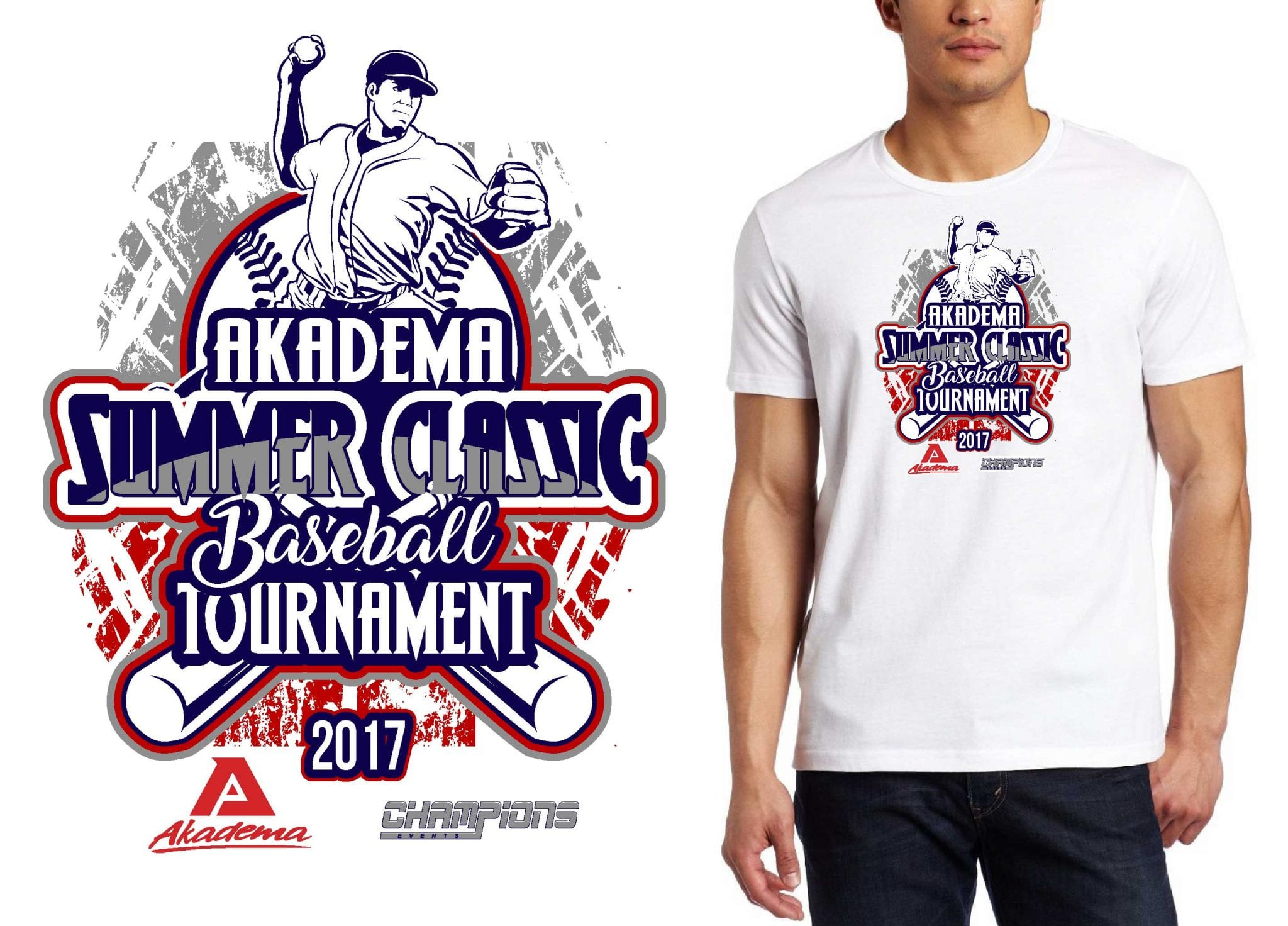 BASEBALL TSHIRT LOGO DESIGN Akadema-Summer-Classic-Baseball-Tournament BY UrArtStudio