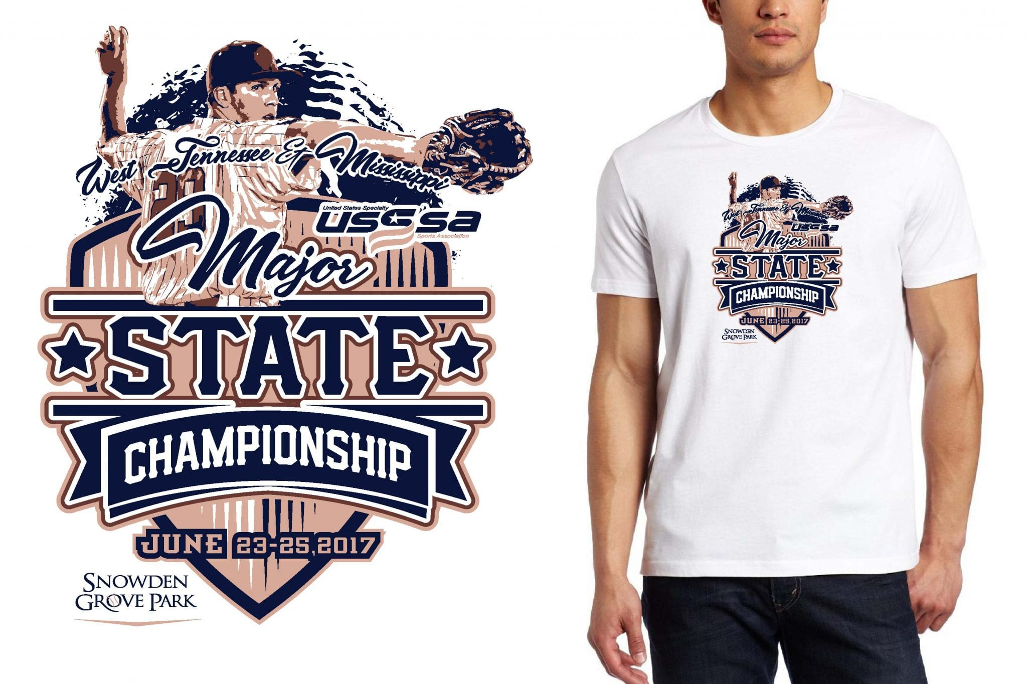 BASEBALL LOGO for Major-State-Championship T-SHIRT UrArtStudio