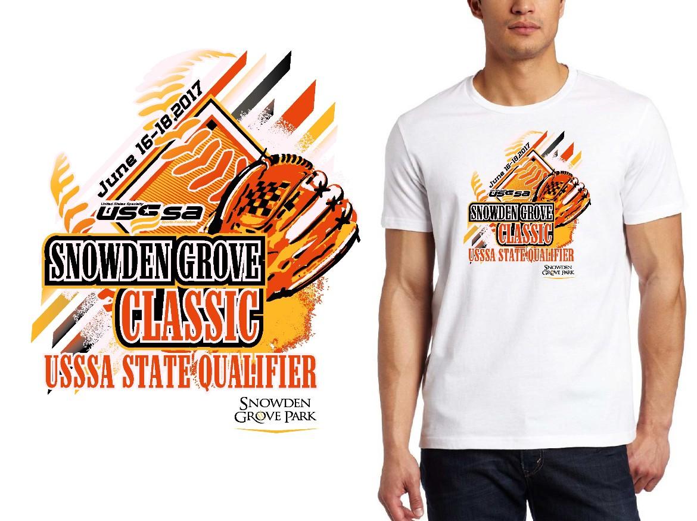 BASEBALL LOGO for Snowden-Grove-Classicip T-SHIRT UrArtStudio