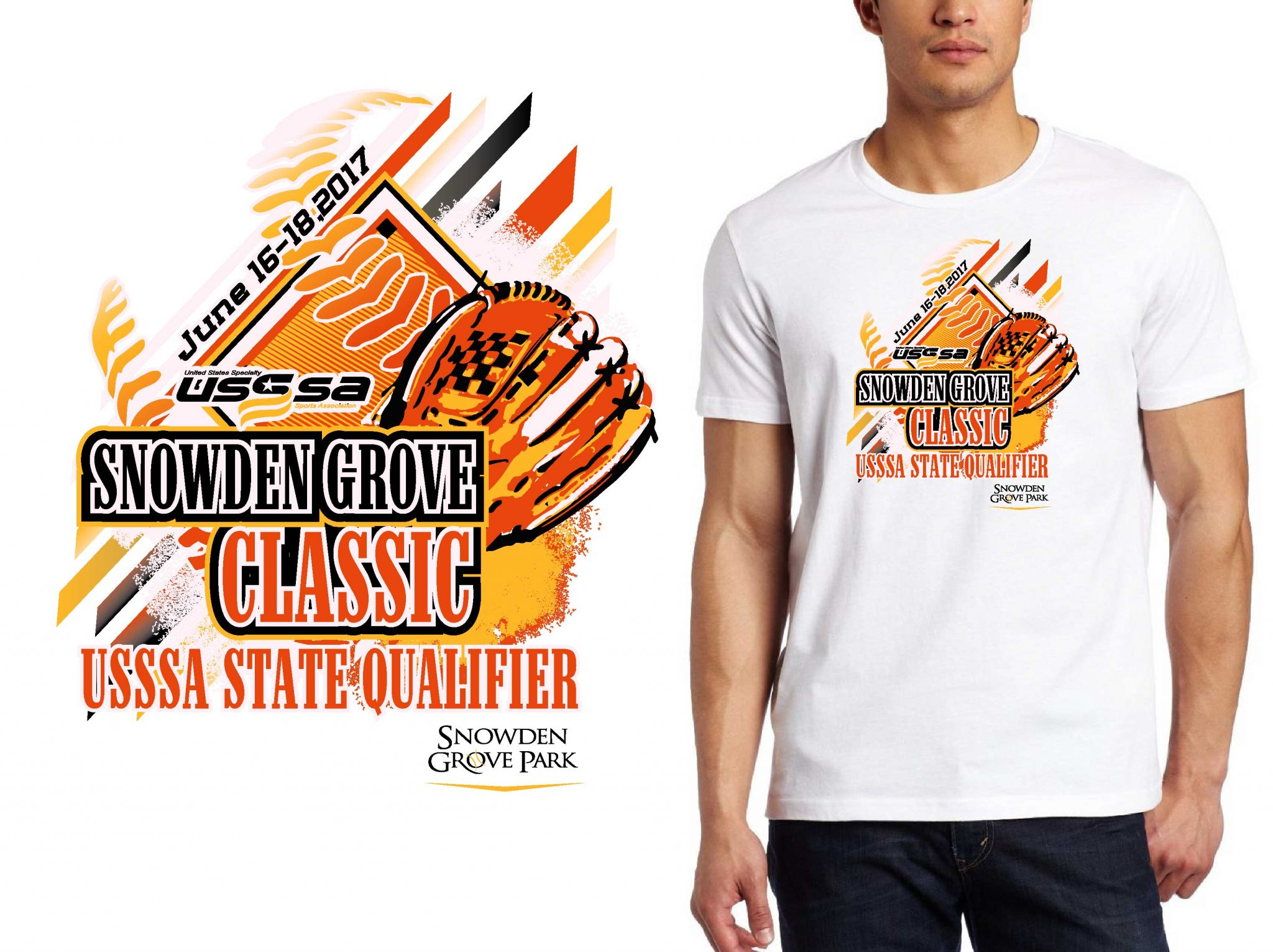 BASEBALL LOGO for Snowden-Grove-Classicip T-SHIRT UrArtStudio