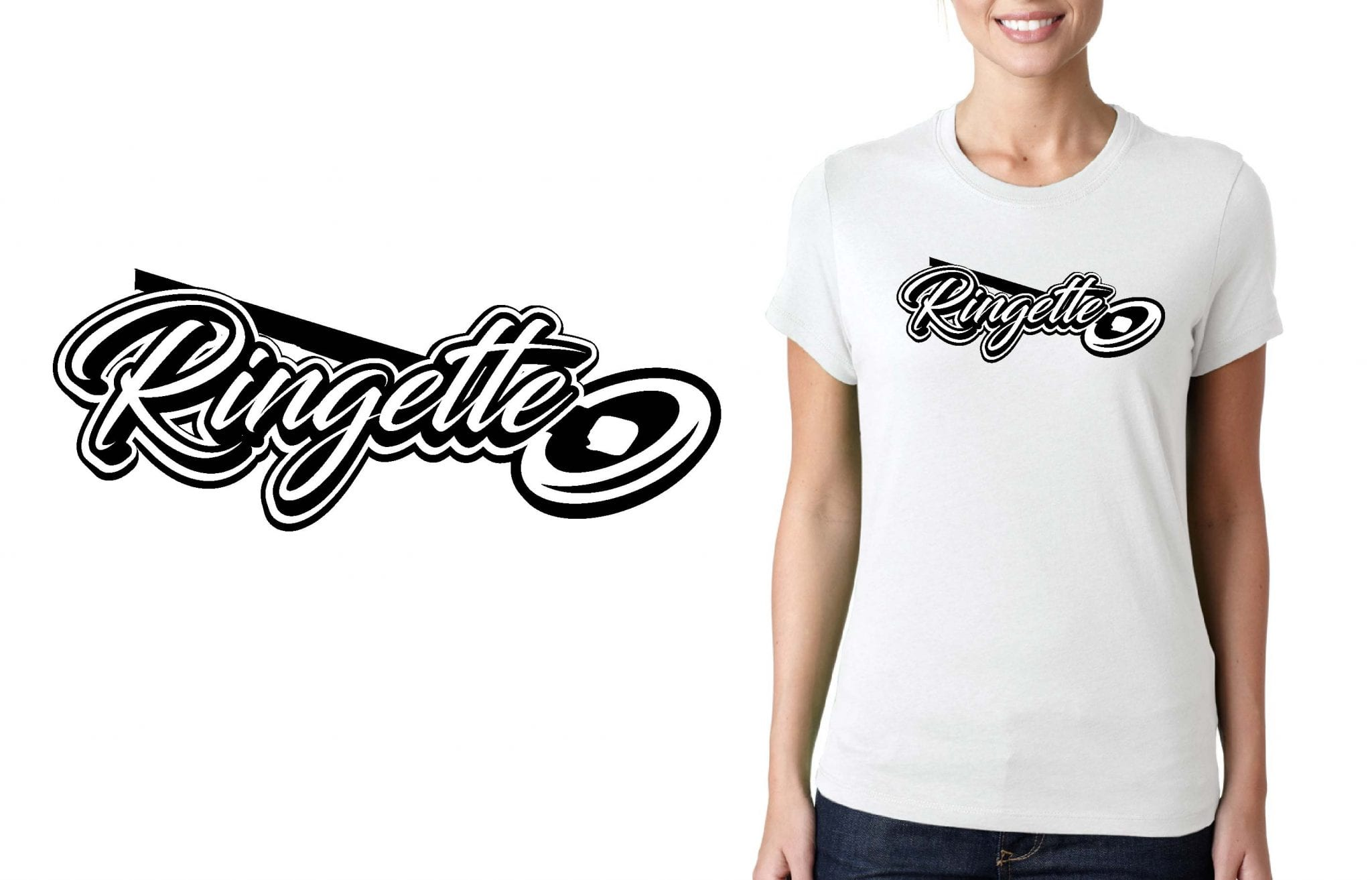 RINGETTE LOGO for T-SHIRT UrArtStudio