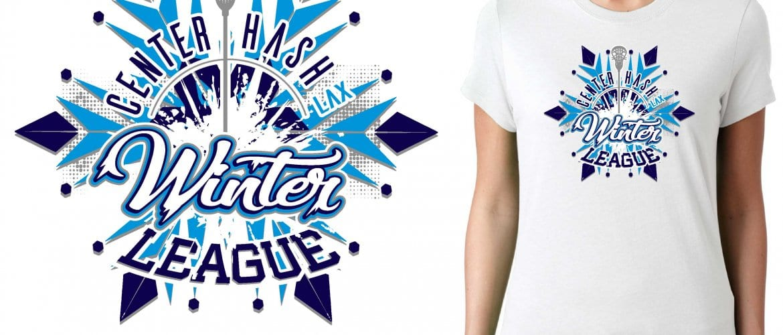 2017 Winter League Ashley Means LACROSSE vector logo design for t-shirt UrArtStudio