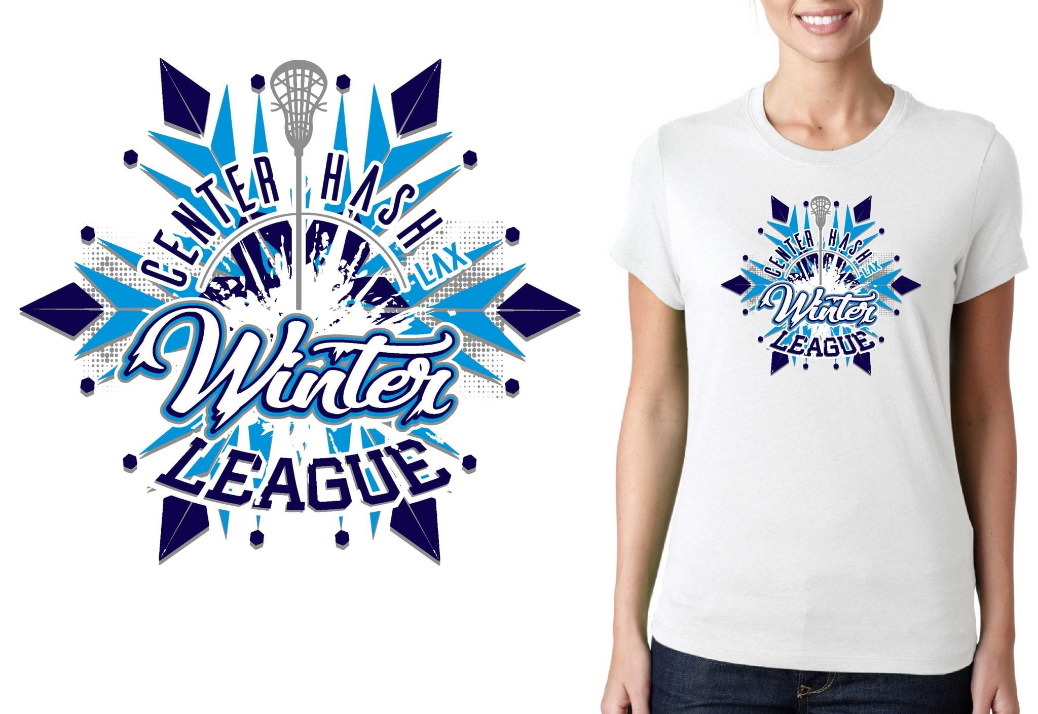 2017 Winter League Ashley Means LACROSSE vector logo design for t-shirt UrArtStudio