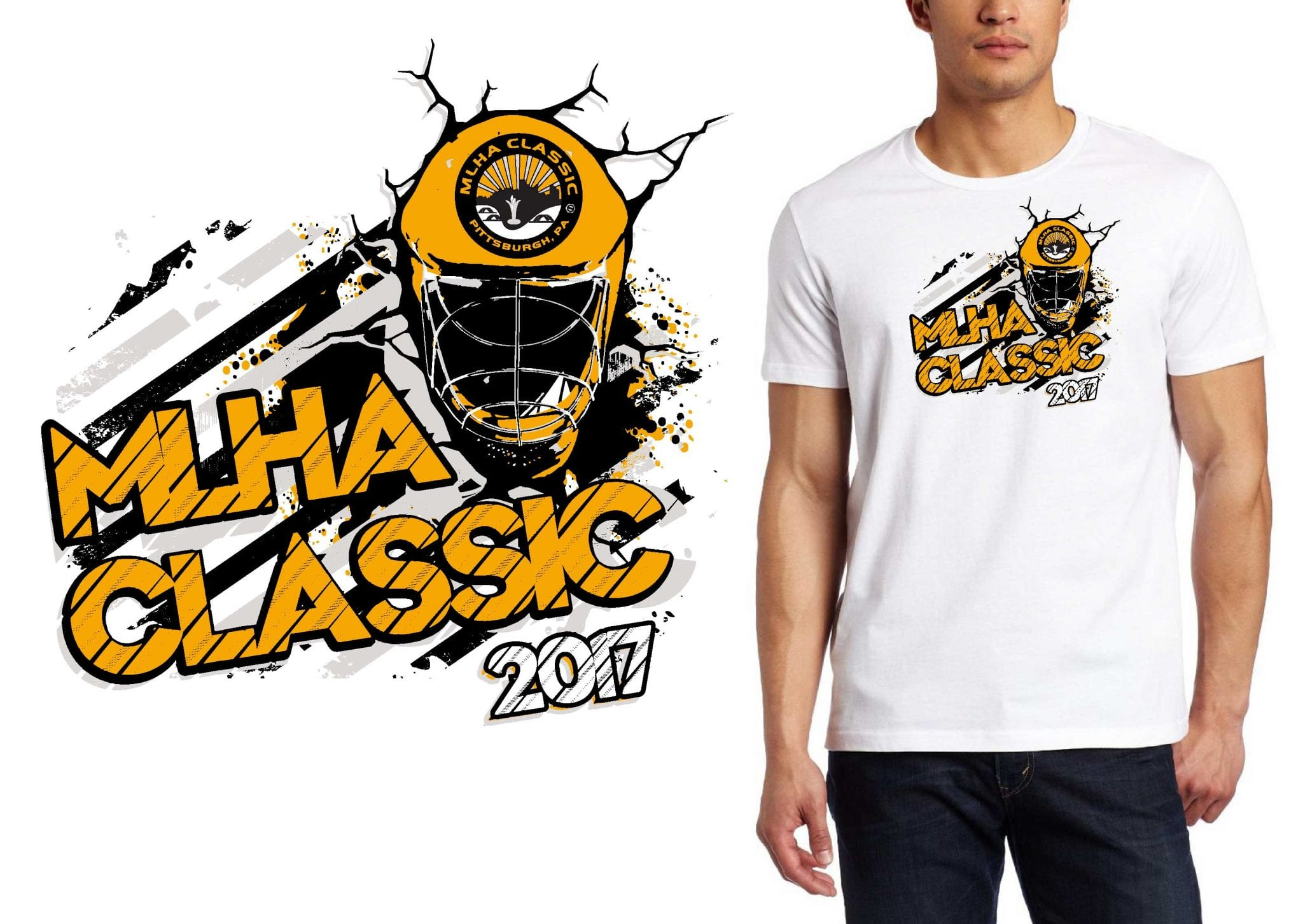 2017 MLHA HOCKEY MD vector logo design for t-shirt UrArtStudio