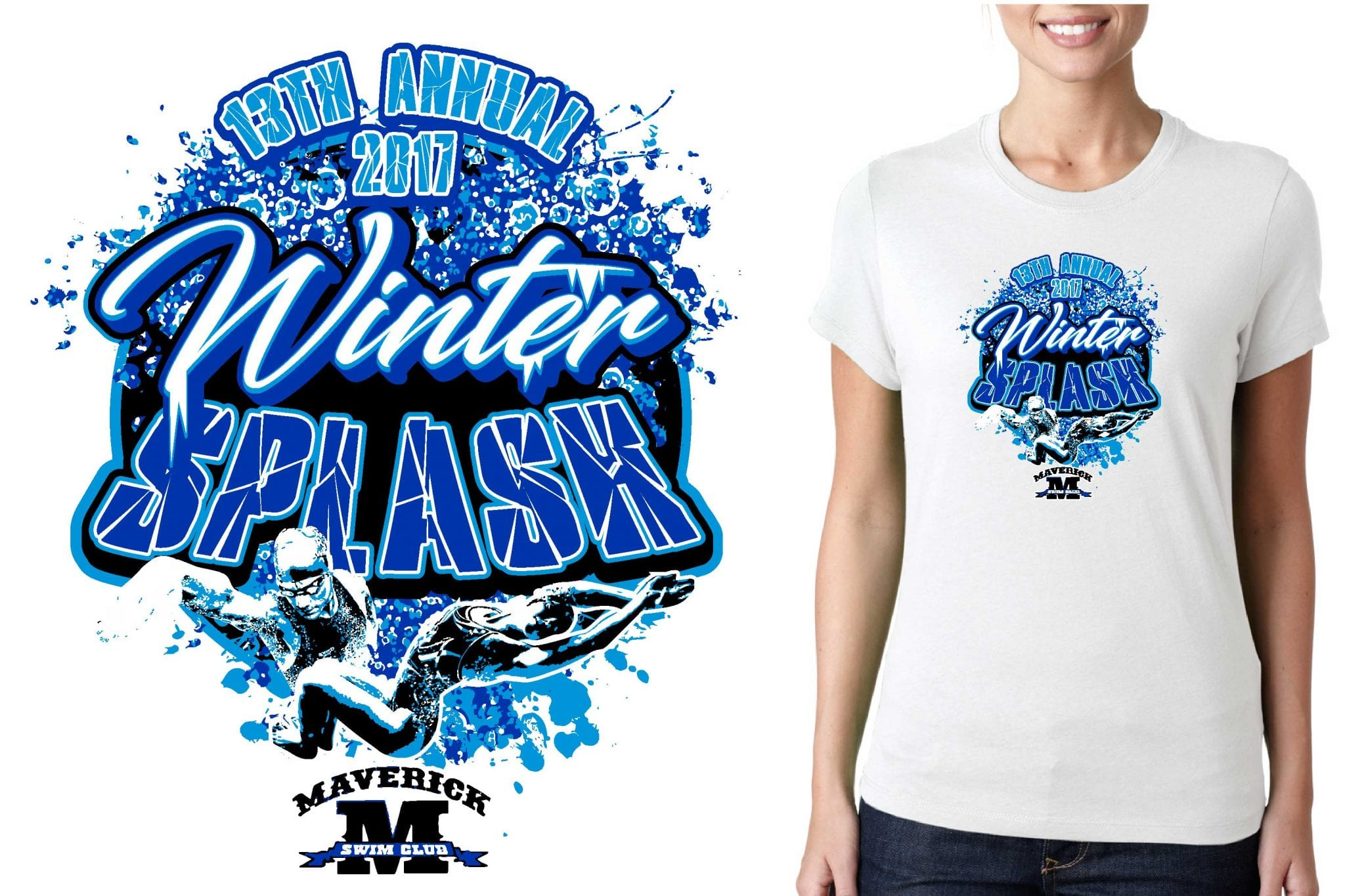 Vector Logo Design For T Shirt 1 6 17 13th Annual Winter