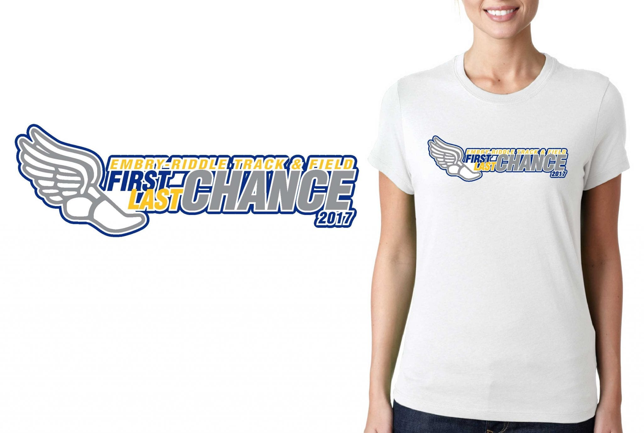 TRACK AND FIELD TSHIRT LOGO DESIGN Embry-Riddle-Last-chance BY UrArtStudio