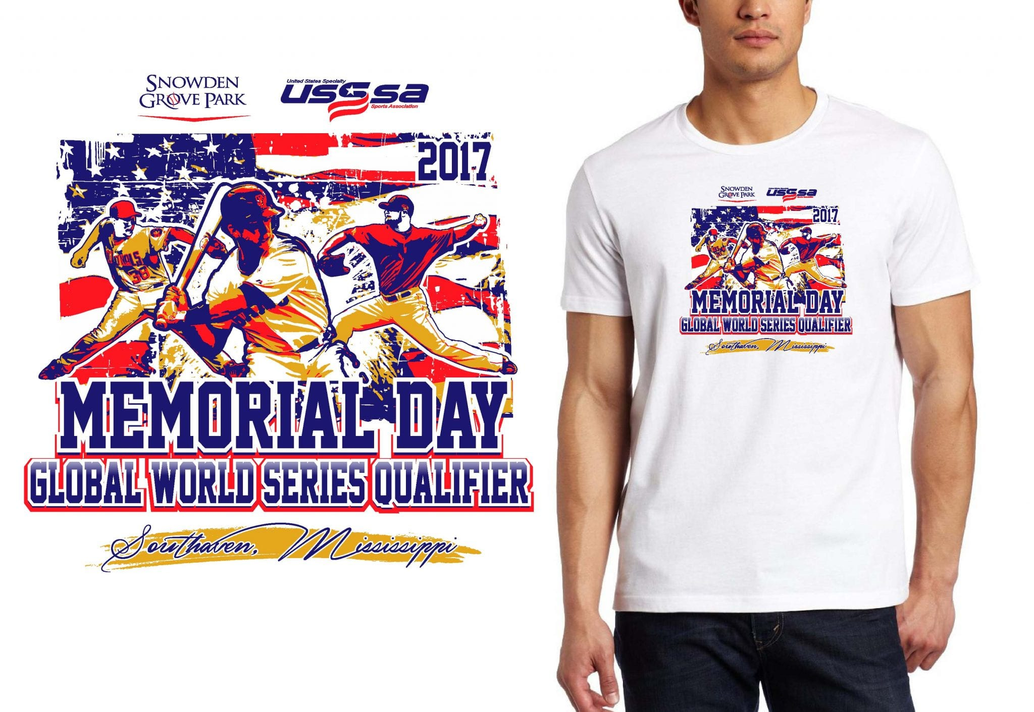 BASEBALL TSHIRT LOGO DESIGN Memorial-Day-Tournament UrArtStudio
