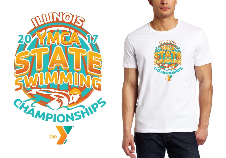 LOGO for Illinois-YMCA-State-Swimming-Championships T-SHIRT UrArtStudio