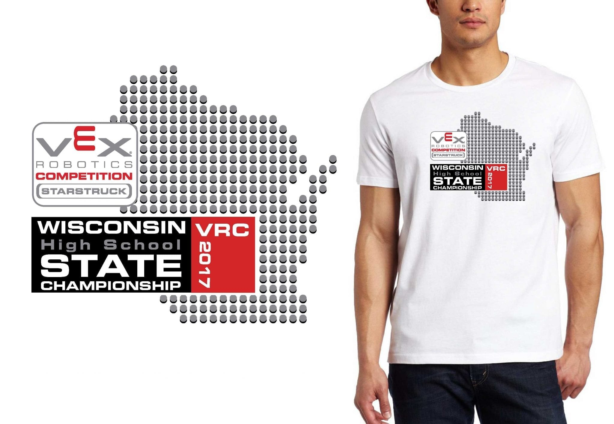 ROBOTICS LOGO for Wisconsin-VRC-High-School-State T-SHIRT UrArtStudio