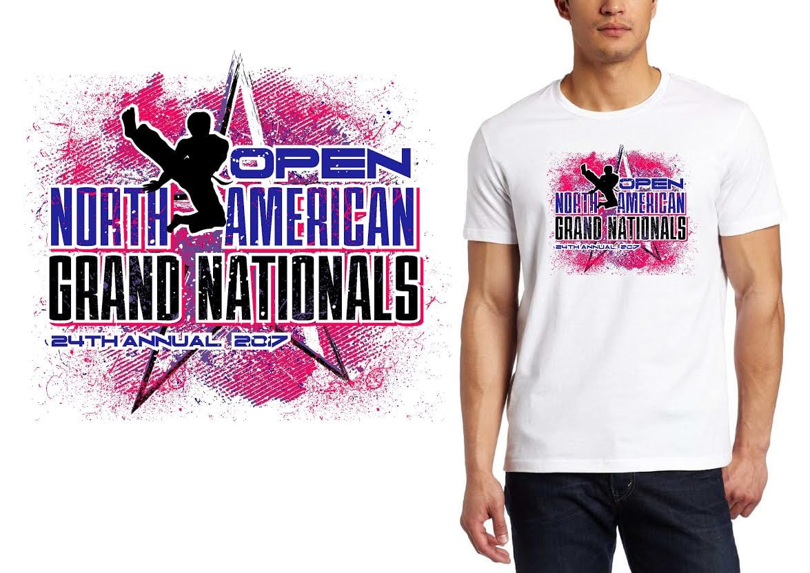 MARTIAL ARTS LOGO for 24th-Annual-Open-North-American-Grand-Nationals T-SHIRT UrArtStudio