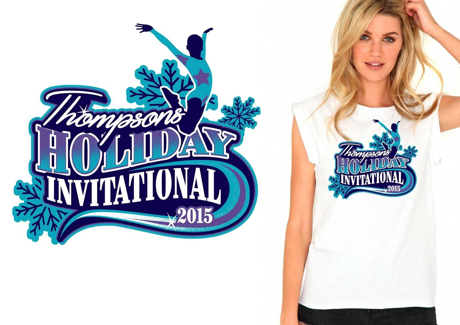 Gymnastics vector logo design for tshirt www urartstudio com Gymnastics t shirt designs
