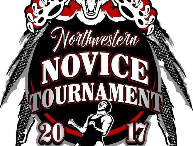 2017 Northwestern Middle School Youth Wrestling vector logo design for t-shirt UrArtStudio