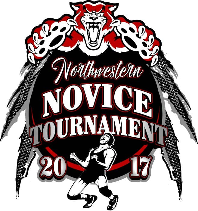 2017 Northwestern Middle School Youth Wrestling vector logo design for t-shirt UrArtStudio