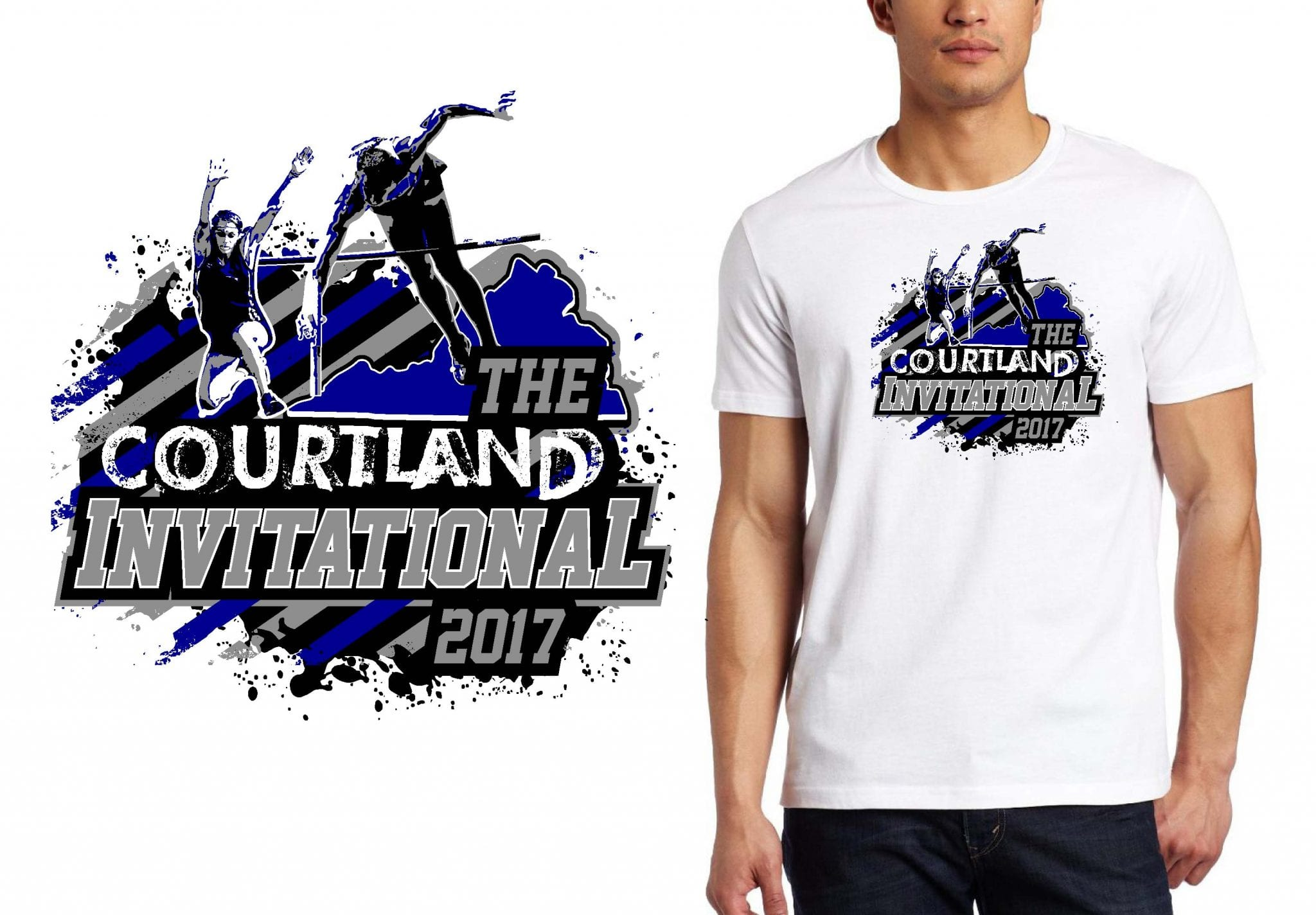 TRACK AND FIELD T SHIRT LOGO DESIGN The Courtland BY UrArtStudio