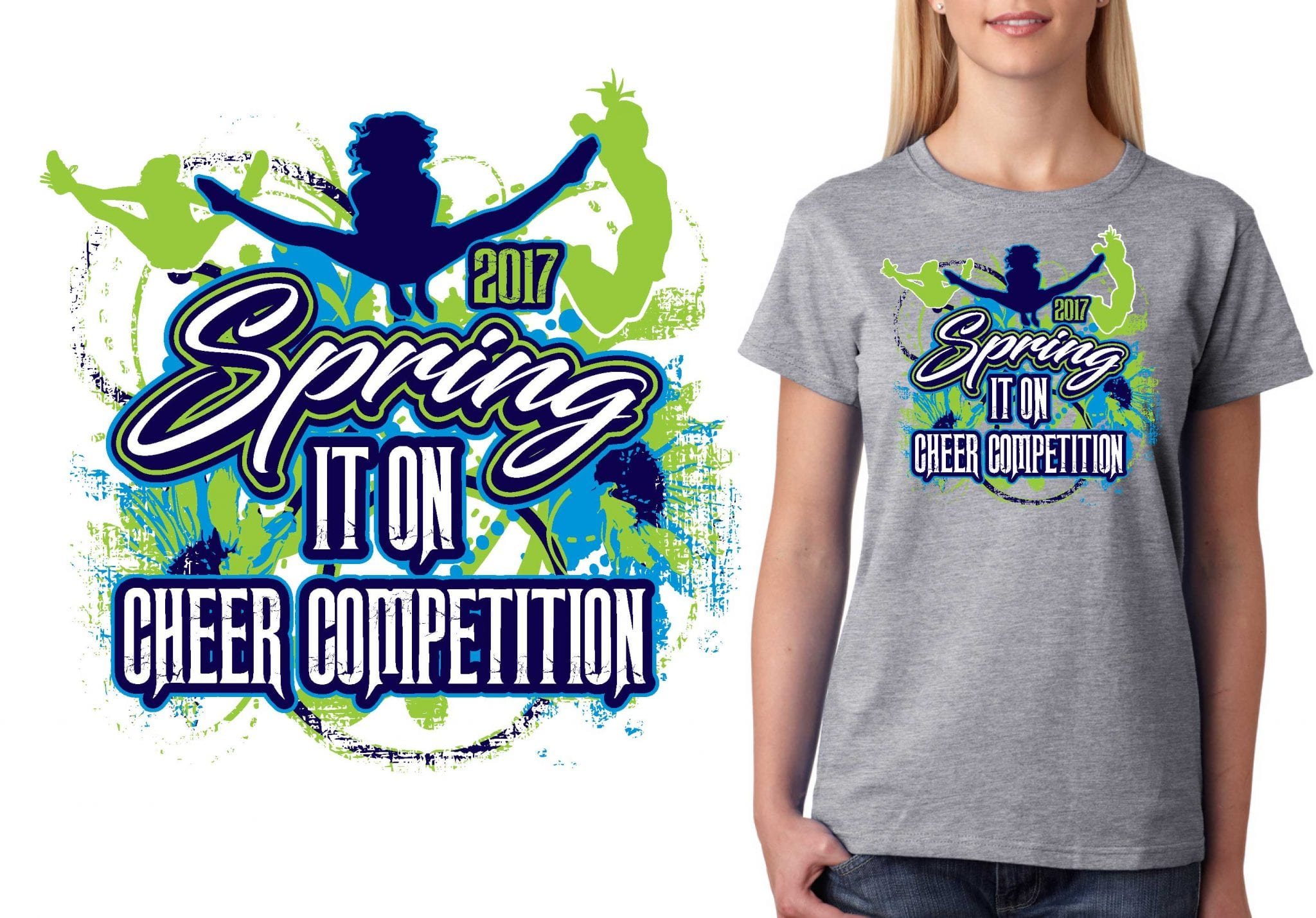 CHEER T SHIRT LOGO DESIGN Cheers Spring It On BY UrArtStudio