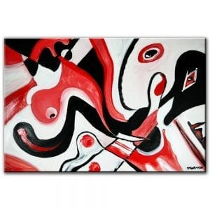 Zero Friction abstract painting