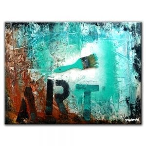 art brush mixed media ABSTRACT PAINTING BY DRANITSIN