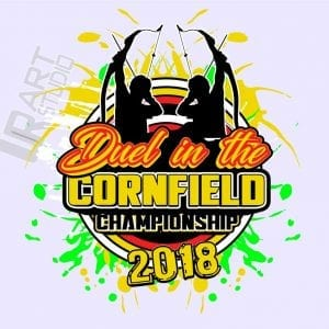 ARCHERY DUEL IN THE CORNFIELD CHAMPIONSHIP 2018 VECTOR LOGO DESIGN FOR T-SHIRT