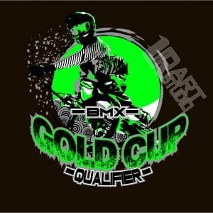 BMX MOTO SPORT QUALIFIER VECTOR LOGO DESIGN FOR T-SHIRT