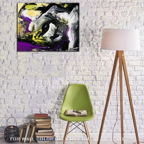 original abstract painting by Peter Dranitsin called Bumblebees
