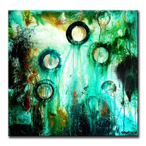 Beneath the Seven Seas abstract painting