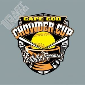 CAPE COD CHOWDER CUP FASTPITCH TOURNAMENT VECTOR LOGO DESIGN FOR T-SHIRT