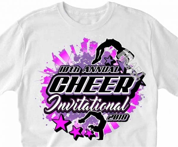 CHEER INVITATIONAL 2018, VECTOR LOGO DESIGN DOWNLOAD