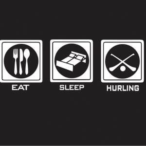 EAT SLEEP HURLING, logo design