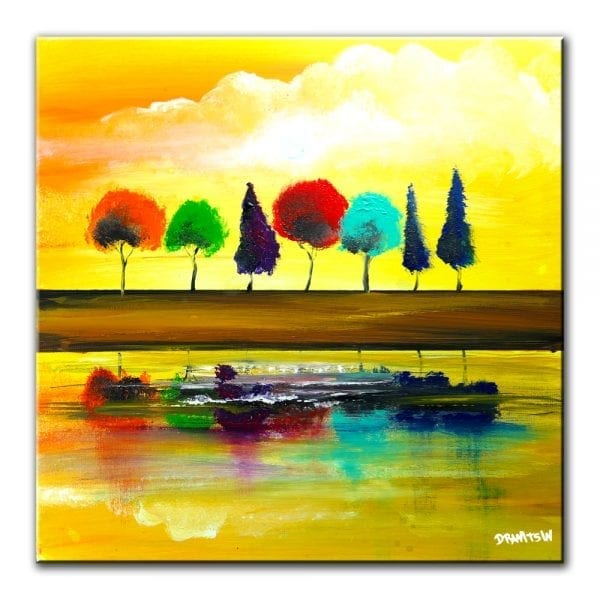 ELUSIVE REFLECTION, landscape painting