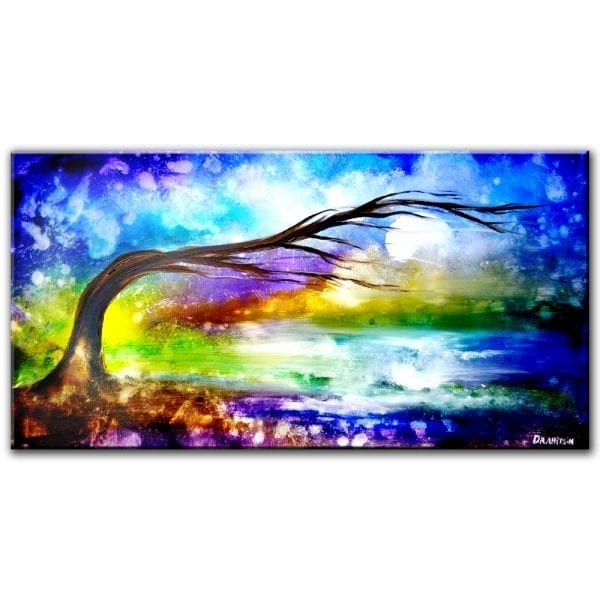 Electromagnetic field abstract landscape painting