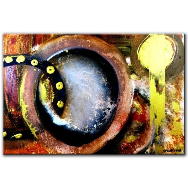 GOLDEN KEY abstract painting