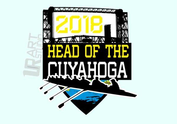 REGATTA HEAD OF CUYAHOGA 2018 ROWING VECTOR LOGO DESIGN FOR T-SHIRT
