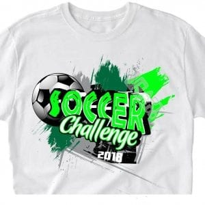 SOCCER CHALLENGE VECTOR LOGO DESIGN FOR T-SHIRT