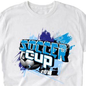 SOCCER CUP VECTOR LOGO T-SHIRT DESIGN