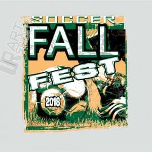 SOCCER FALL FEST 2018 VECTOR LOGO DESIGN FOR T-SHIRT