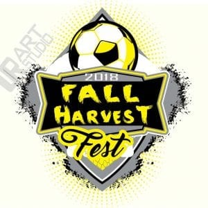 SOCCER FALL HARVEST FEST 2018 VECTOR LOGO DESIGN FOR T-SHIRT