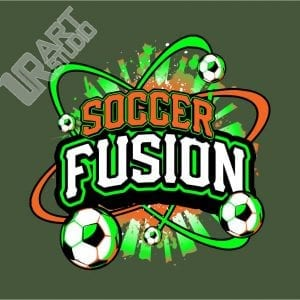 SOCCER FUSION VECTOR LOGO DESIGN FOR T-SHIRT