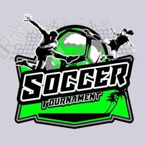 SOCCER TOURNAMENT VECTOR LOGO DESIGN FOR T-SHIRT